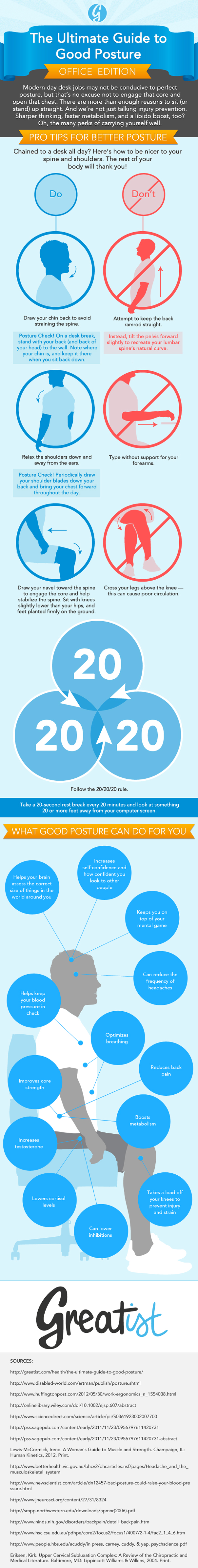 tricks to improve posture at work