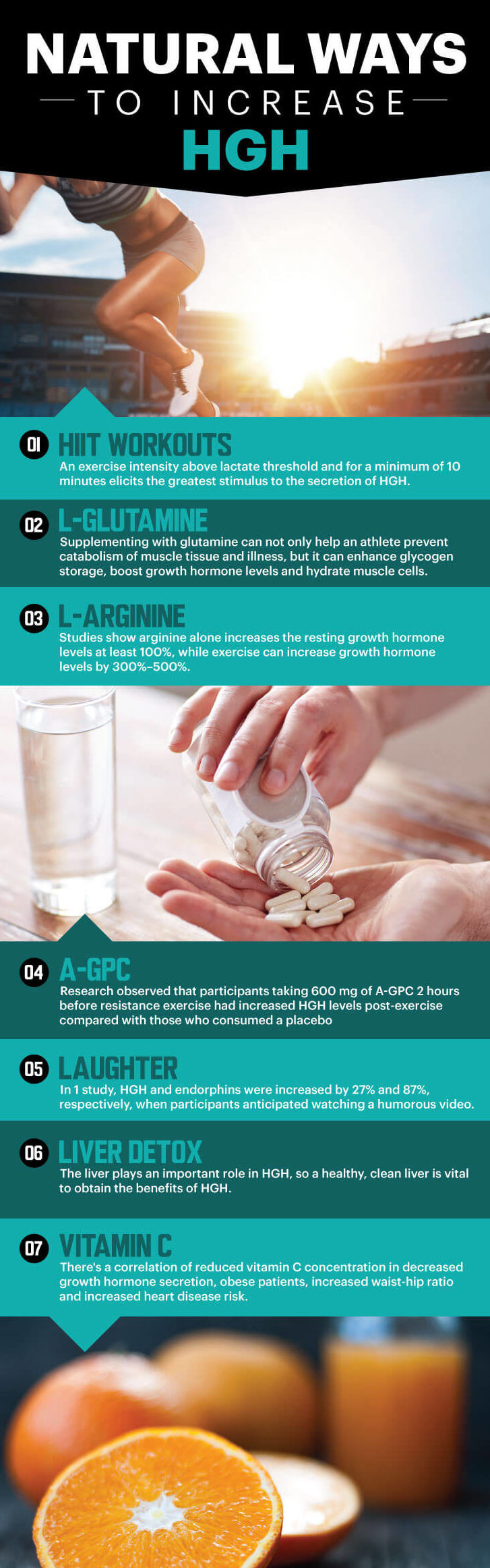 increase HGH level - Infographic